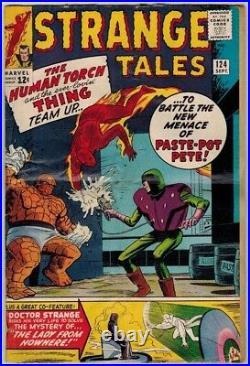 1963-65 Strange Tales Lot #115, 135+ Origin Dr Strange 1st Nick Fury 2nd Sandman