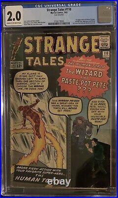 (1963) STRANGE TALES #110! CGC 2.0! 1st appearance DOCTOR STRANGE! CREAM/OWP