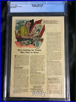 1964 Marvel Strange Tales #126 CGC 5.5 FN OWithW 1st Appearance of Dormammu & Clea