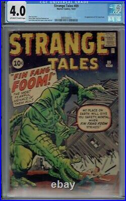 CGC 4.0 STRANGE TALES #89 1ST APPEARANCE OF FIN FANG FOOM 1961 OWithW PAGES