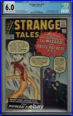 CGC 6.0 STRANGE TALES #110 1ST APPEARANCE OF DOCTOR STRANGE DR OWithW PAGES 1963