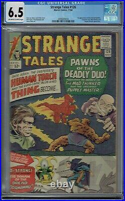CGC 6.5 STRANGE TALES #126 DORMAMMU & CLEA 1ST APPEARANCE OWithW PAGES DR STRANGE