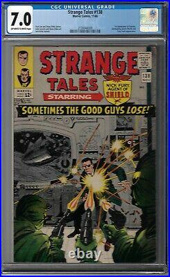 CGC 7.0 STRANGE TALES #138 ETERNITY 1ST APPEARANCE OWithWHITE PAGES