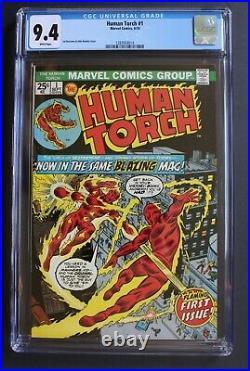 HUMAN TORCH #1 1st Solo GA vs SA Battle 1974 Strange Tales 101-r KIRBY CGC 9.4