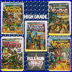 High Grade Strange Tales Full Set Run #169 1st Brother VooDoo Dr. Strange Movie