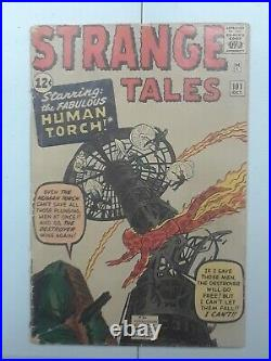 Marvel Strange Tales # 101, 1st App. Human Torch, Vintage Silver Age Comic, Key