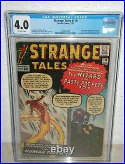 STRANGE TALES #110 CGC 4.0 1st. Doctor Strange 1963