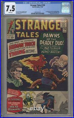 STRANGE TALES 126 CGC 7.5 First Dormammu Doctor Strange Marvel Comics