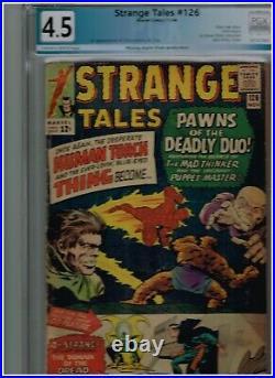 STRANGE TALES #126 GRADED 4.5 BY PGX 1st APPEARANCE OF DORMAMMU & CLEA