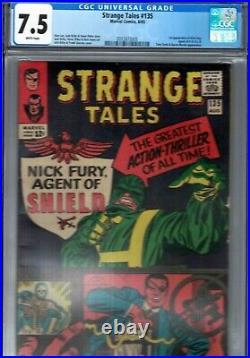 STRANGE TALES #135 CGC 7.5 WP 1st APPEARANCE OF NICK FURY MARVEL COMICS AVENGERS