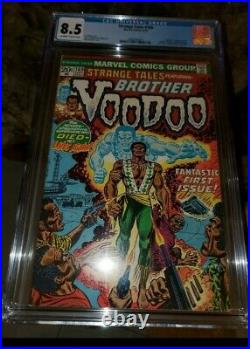 STRANGE TALES #169 CGC 8.5 BEAUTY 1st & ORIGIN BROTHER VOODOO DOCTOR STRANGE