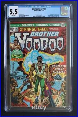 STRANGE TALES #169 ORIGIN 1st BROTHER VOODOO 1973 Doctor Strange MOVIE-2 CGC 5.5