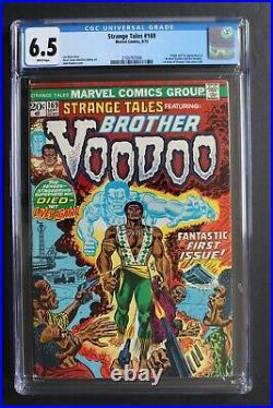 STRANGE TALES #169 ORIGIN 1st BROTHER VOODOO 1973 Doctor Strange MOVIE-2 CGC 6.5