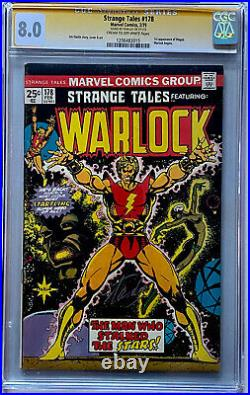 STRANGE TALES #178 CGC 8.0 SS Signed by STAN LEE 1st Magus WARLOCK STARLIN COVER
