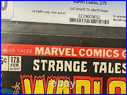 STRANGE TALES #178 CGC 9.0 OWithW 1ST MAGUS WARLOCK, STARLIN