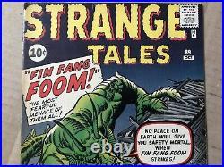STRANGE TALES #89 1st FIN FANG FOOM 1961 Jack Kirby Stan Lee