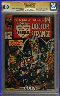 STRANGE Tales #161 CGC 8.0 SS Steranko 1st SA Yellow Claw! (0201233009)