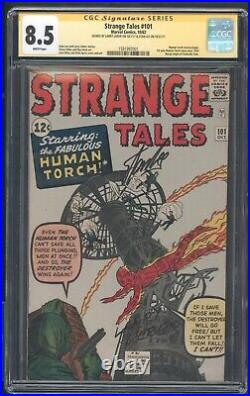 Strange Tales 101 Cgc 8.5 SS Lee White 1st Solo Human Torch Fantastic Four