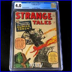 Strange Tales #101 (Marvel 1962) CGC 4.0 1st Solo Human Torch since 1954