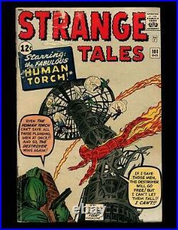 Strange Tales #101 VG Kirby Ditko 1st Solo Human Torch Origin Fantastic Four