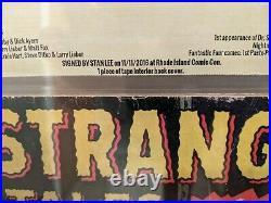 Strange Tales #110 CBCS 3.0 OW-W signed Stan Lee- 1st App Dr. Doctor Strange