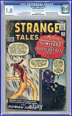 Strange Tales #110 CGC 1.8 1963 1204154017 1st app. Doctor Strange, Nightmare