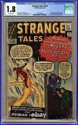 Strange Tales #110 CGC 1.8 1963 3771808012 1st app. Doctor Strange, Nightmare