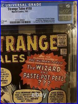 Strange Tales #110 CGC 2.5 1st Doctor Strange 1963 Movie Avengers