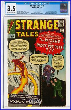 Strange Tales #110 CGC 3.5 1963 1st Doctor Strange! Key Book Avengers! M3 163 cm