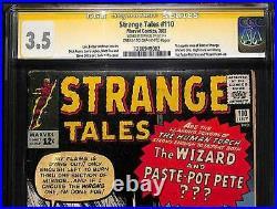 Strange Tales #110 CGC 3.5 VG- SS STAN LEE Human Torch 1st app DOCTOR STRANGE