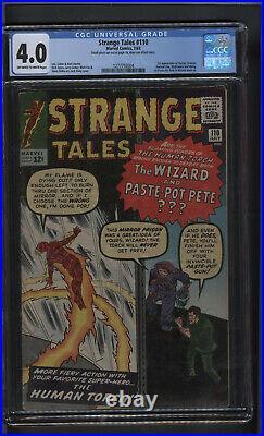Strange Tales #110 CGC 4.0 1st Doc Strange Silver age Marvel Key Human Torch