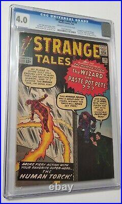 Strange Tales #110 CGC 4.0 1st Doctor Strange 1963 Movie Avengers Ditko Kirby