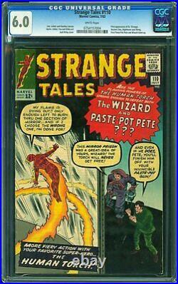 Strange Tales #110 CGC 6.0 1963 1st Doctor Strange! WHITE Pages L12 754 cm clean