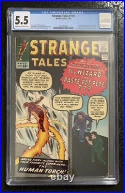 Strange Tales #110 Cgc 5.5 Cr-ow 1st Appearance Of Doctor Strange 1963 Key