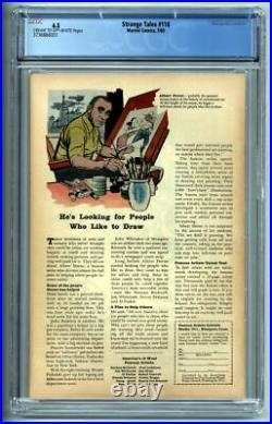 Strange Tales #110 Cgc Fn+ 6.5 1963 Marvel Comics 1st Doctor Strange 1st Wong