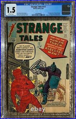 Strange Tales #111 CGC 1.5 (2nd Dr Strange, 1st Baron Mordo & 1st Asbestos Man)
