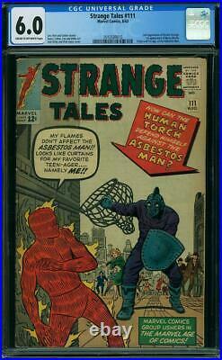 Strange Tales #111 CGC 6.0 1963 2nd Doctor Strange! 1st Baron Mordo! K4 210 cm