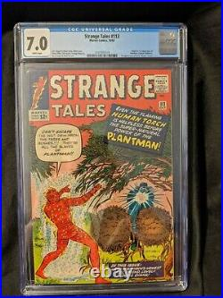 Strange Tales #113 CGC 7.0 WHITE Pages 10/63 Lee Kirby Ditko 1st Plantman