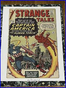 Strange Tales #114 3rd Dr Strange/1st Silver Age Captain America-Low Grade Key