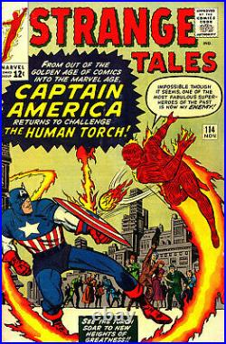 Strange Tales #114 Cgc 5.0 1st Silver Age Capt America Kirby Ditko Ayers 1963