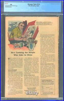 Strange Tales 114 cgc 3.0 1st Captain America Appearance Since 1954 3809092004