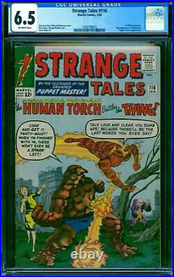 Strange Tales 116 CGC 6.5 - 1964 - 1st Thing X-over A+ centering #1565799012