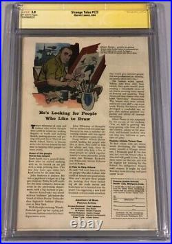 Strange Tales #123 CGC 5.0 SS STAN LEE 1st App of the BEETLE 1st THOR Crossover