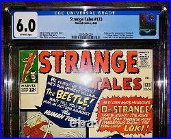 Strange Tales 123 Cgc 6.0-1st Appearance Beetle, Dr Strange, 1st Thor X-over 1964