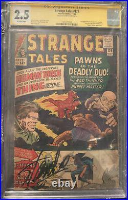 Strange Tales 126 CBCS Signed By Stan Lee First Appearance Dormammu And Clea