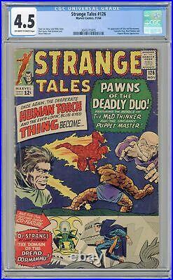 Strange Tales #126 CGC 4.5 1964 2043315005 1st app. Dormammu, Clea