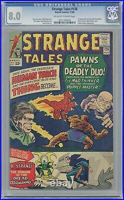 Strange Tales #126 CGC 8.0 1964 0251439020 1st app. Dormammu, Clea