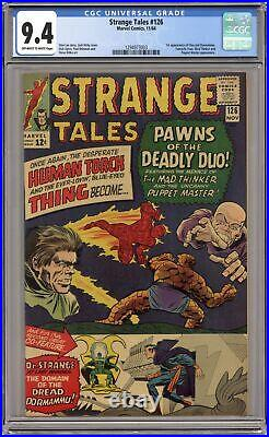 Strange Tales #126 CGC 9.4 1964 1294973003 1st app. Dormammu, Clea