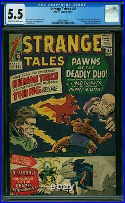 Strange Tales 126 Cgc 5.5 Oww Nice 1st Dormammu & Clea Steve Ditko Art 1964 L1