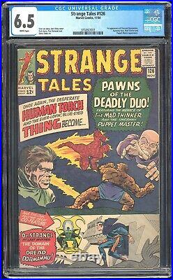Strange Tales #126 Marvel 1964 CGC 6.5 FN+ White 1st Dormammu and Clea MCU